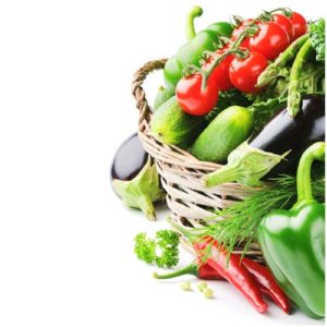 Panier de légumes pour fond de page