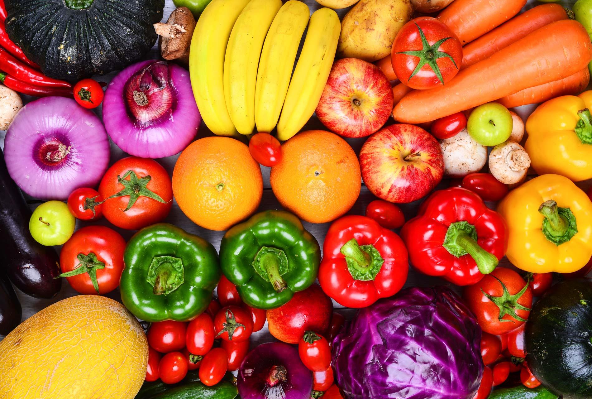 Fruits et légumes mélangés